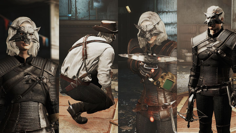 """Fallout 4 'ün ihtiyacı """"TheWitcher 3"""" modu idi. Geralt gibi giyinmek ister misiniz ? Bu modla neler geldiğine bir göz atalım.Mod ile beraber Geralt'ın ;"""