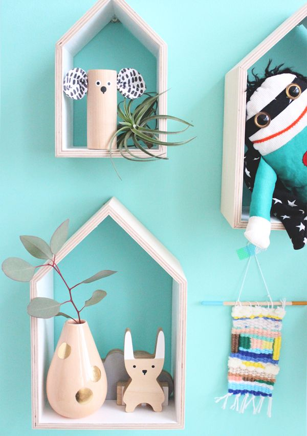 Little House Shelves Turquoise Room