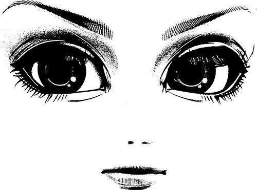 Facial features of fairies