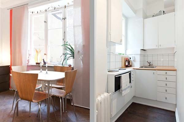 Studio Alcove Apartment With Paned Windows and Parquet Floors ~ cute