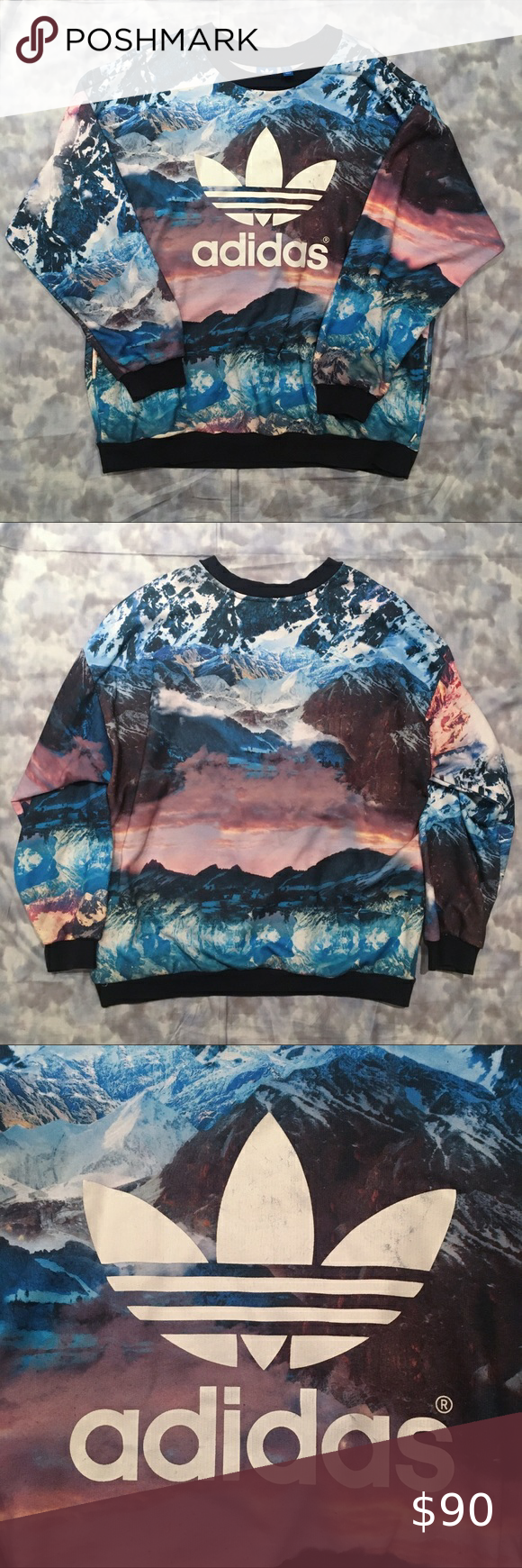 Adidas Originals Mountain Clash Crew Sweatshirt Crew Sweatshirts Sweatshirts Clothes Design [ 1740 x 580 Pixel ]