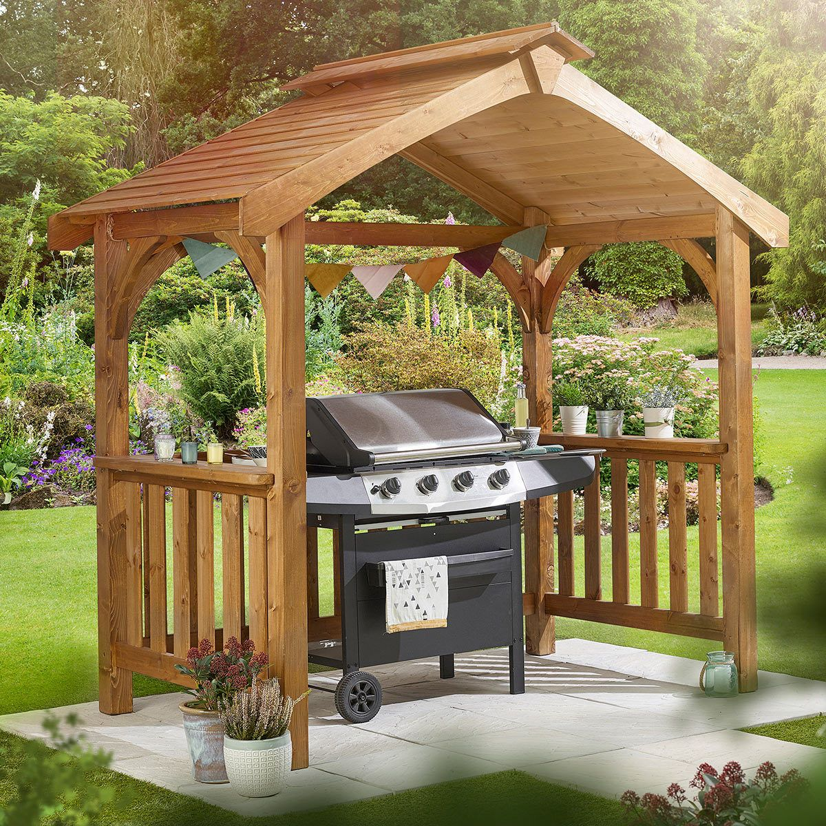 Anchor Fast Pine Wood Bbq Grilling Pavilion With Images Bbq