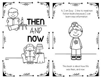 {Then and Now} Non Fiction Reader & Anchor Chart {First