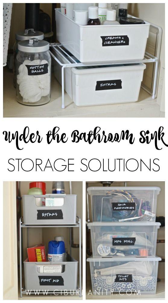 How to Organize Under a Bathroom Sink Sinks, Storage and Organizations