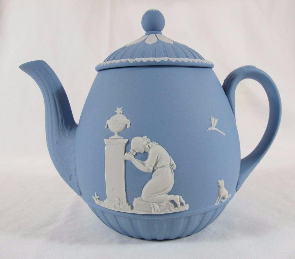Teapot Blue Jasperware