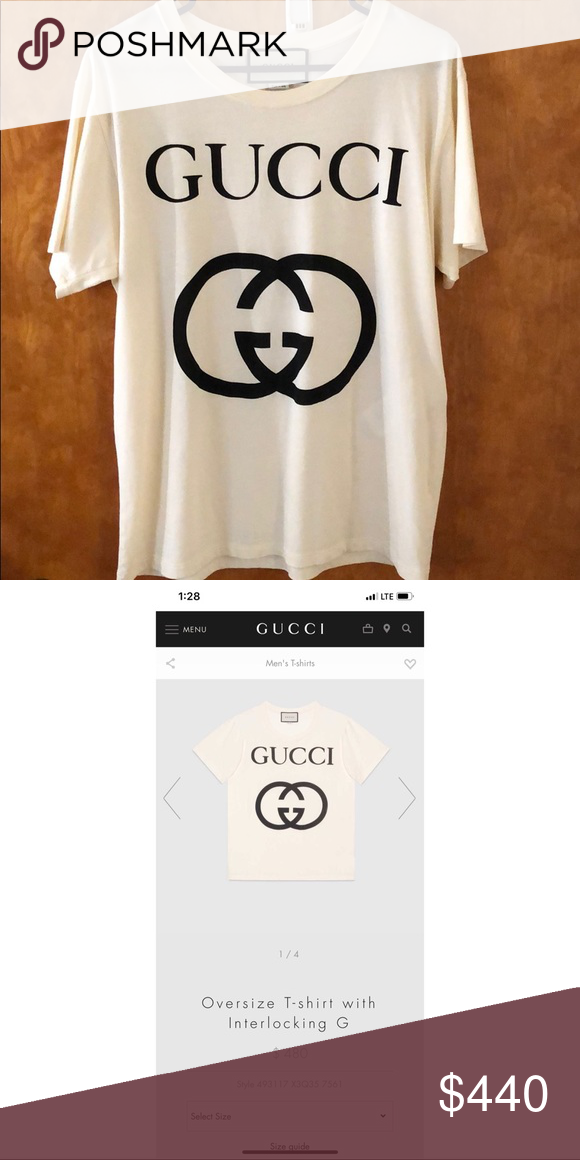 367cdcdb94ad Off white oversized Gucci T-shirt Off white Gucci T-shirt size Small but  its oversized - never worn or washed- tags not attached though Gucci Shirts  Tees ...