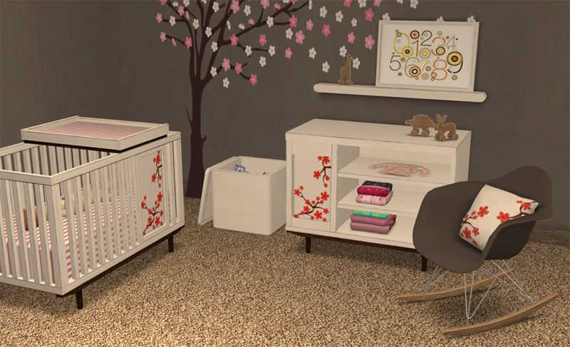 SIMS 2 BB Oh Baby! Nursery Set - Downloads - BlackPearlSims | Sims Baby, Sims 4 Toddler, Sims 4 Cc Furniture