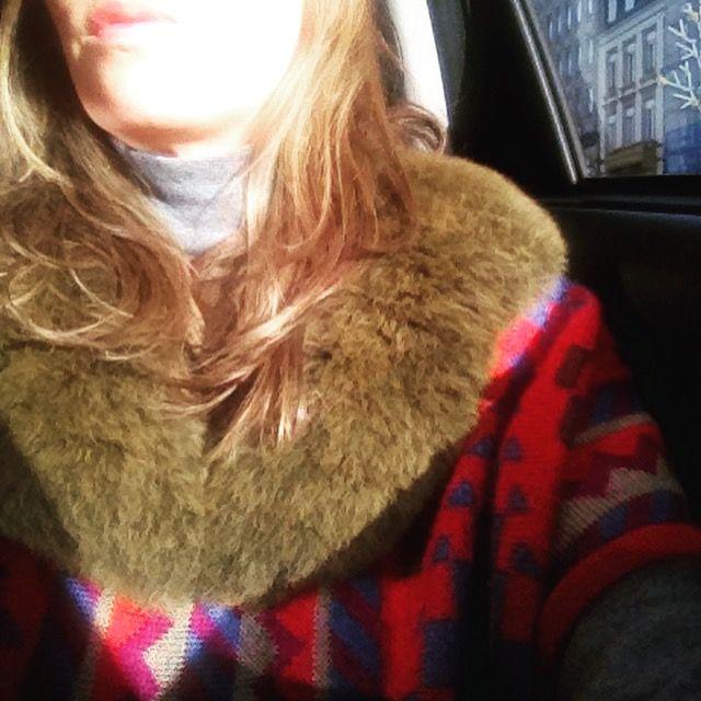 Real Fur Collar made of alpaca Find more at www.petitalpaca.com #stole #estola #alpaca #winteraccessories #fashion #aw1617