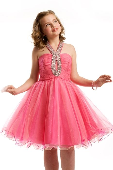 c975be63f0 Halter Ruche Short Pre-Teen Dress 1446 By Part I want this | Preteen ...