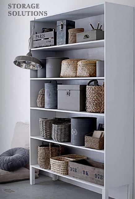 types of hidden storage bins for open storage
