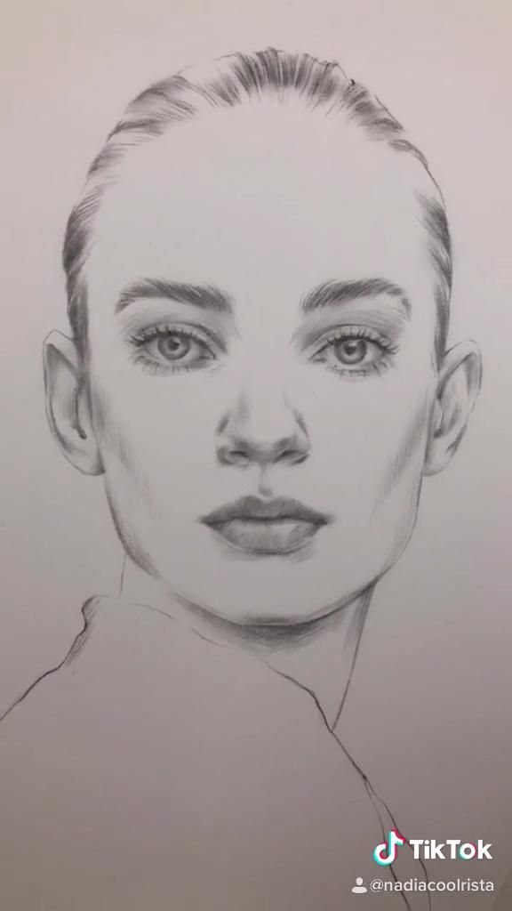 Photo of Portrait drawing by Nadia Coolrista