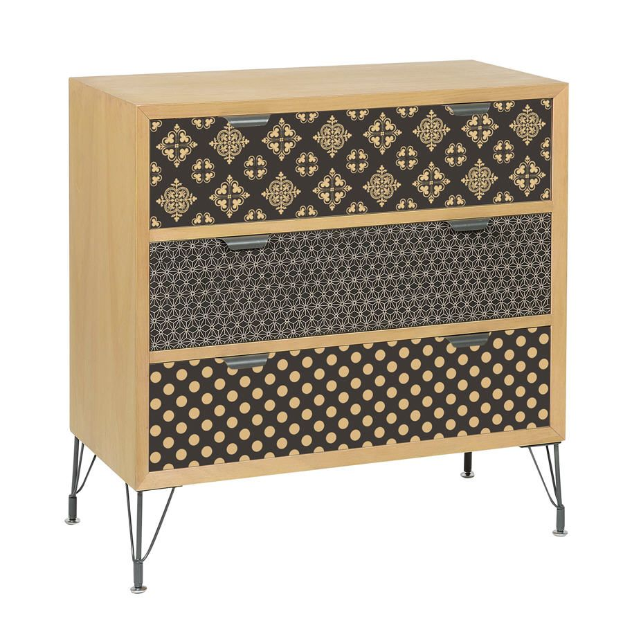 Commode 3 tiroirs imprim s graphic jardin d 39 ulysse delamaison pinterest - Meuble tv jardin d ulysse ...