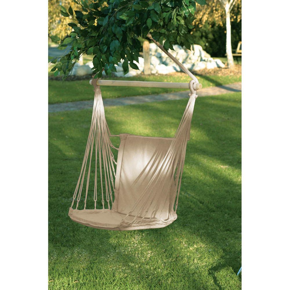 Outdoor hanging hammock rope swing seat chair porch camping