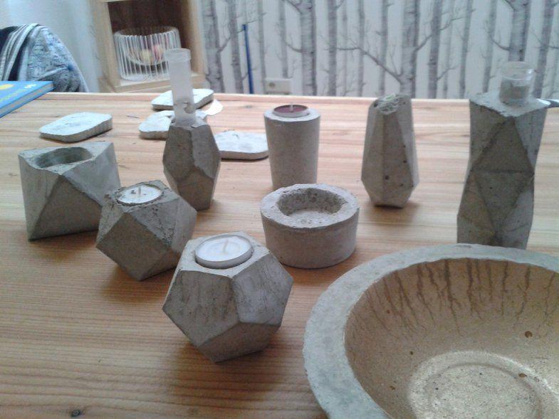 bastelideen mit beton: tipps und tricks zum betongießen, Gartenarbeit ideen