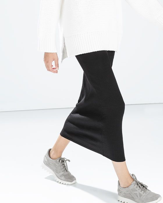 ZARA Black Maxi Tube Skirt | Fall 2014 Ideas | Pinterest | Tube ...