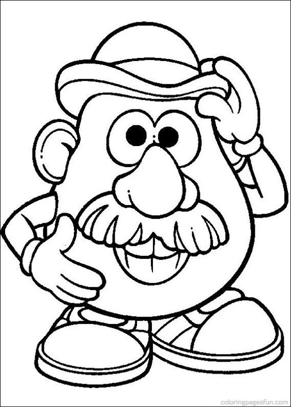 Mr Potato Head Coloring Pages | Toy story coloring pages ...