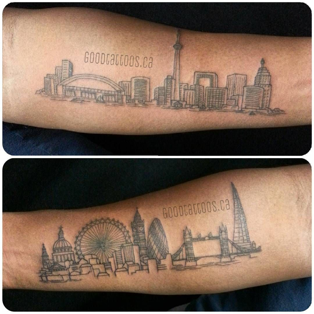 toronto skyline tattoo google search dozers pinterest skyline tattoo toronto and tattoos. Black Bedroom Furniture Sets. Home Design Ideas