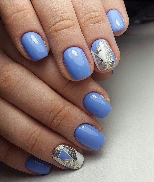 Ideas de manicura en tonos azul Nail Arts in 2018 Pinterest