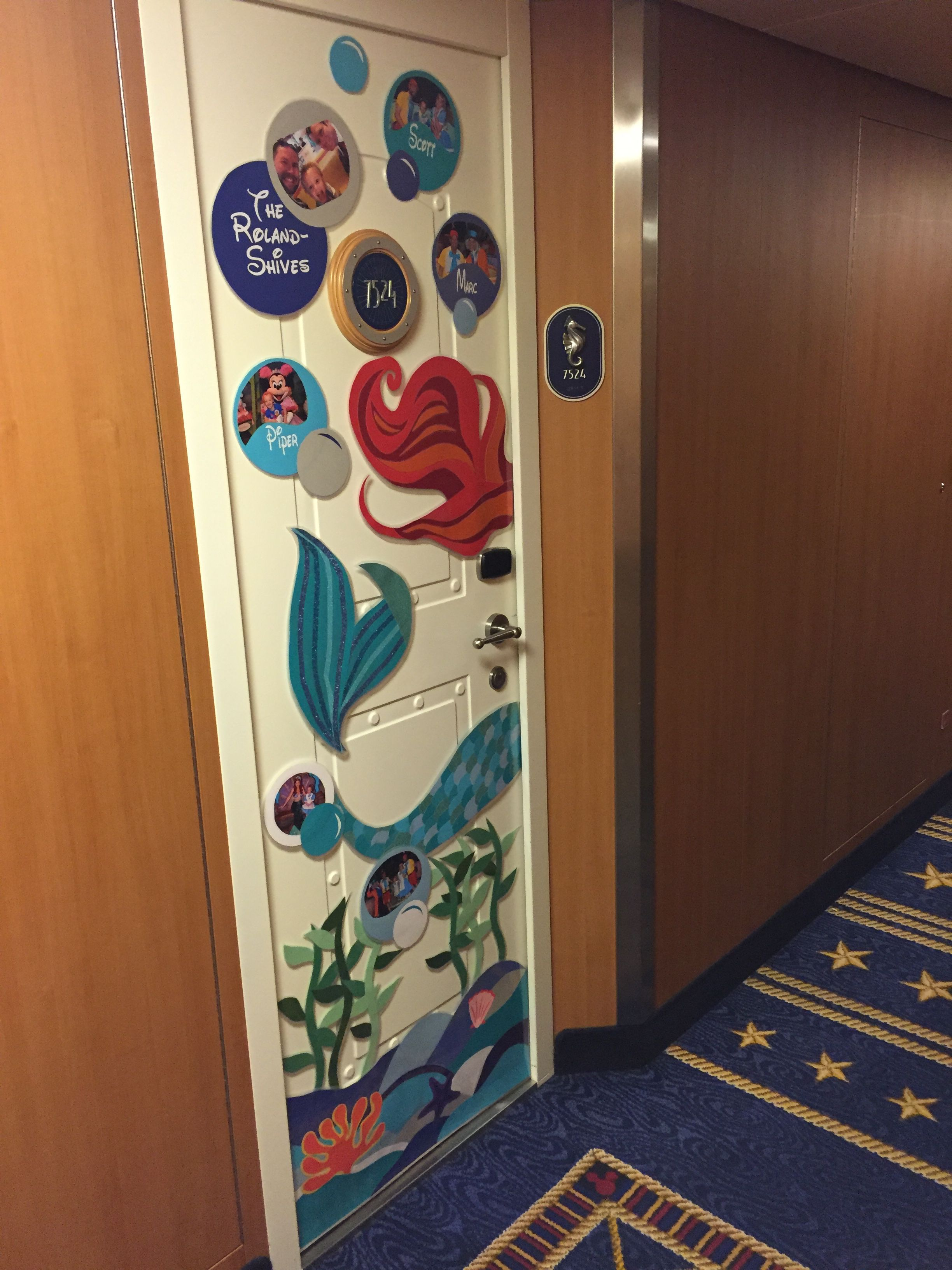Our Little Mermaid Themed Disney Cruise Door Decoration