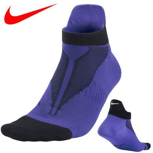 Nike Elite Lightweight Running Socks Men's Shoe Size 8-9.5 Black Purple #Nike #Athletic