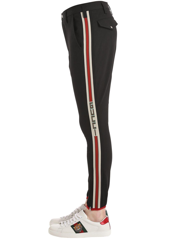 Gucci Stretch Gabardine Riding Pants Gucci Cloth Gucci Outfits Denim Jogger Pants Gucci Denim