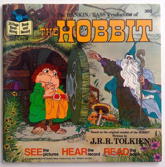 Rankin Bass The Hobbit 7 Vinyl Record 24 Page Book Disneyland 368 Children S Story 1977 Original Pressing Hobbit Book The Hobbit Rankin