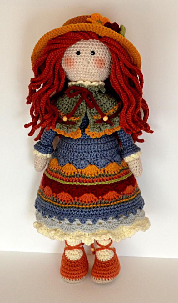 Crochet Amigurumi Doll Pattern Crochet Toy Pattern Pdf Crochet