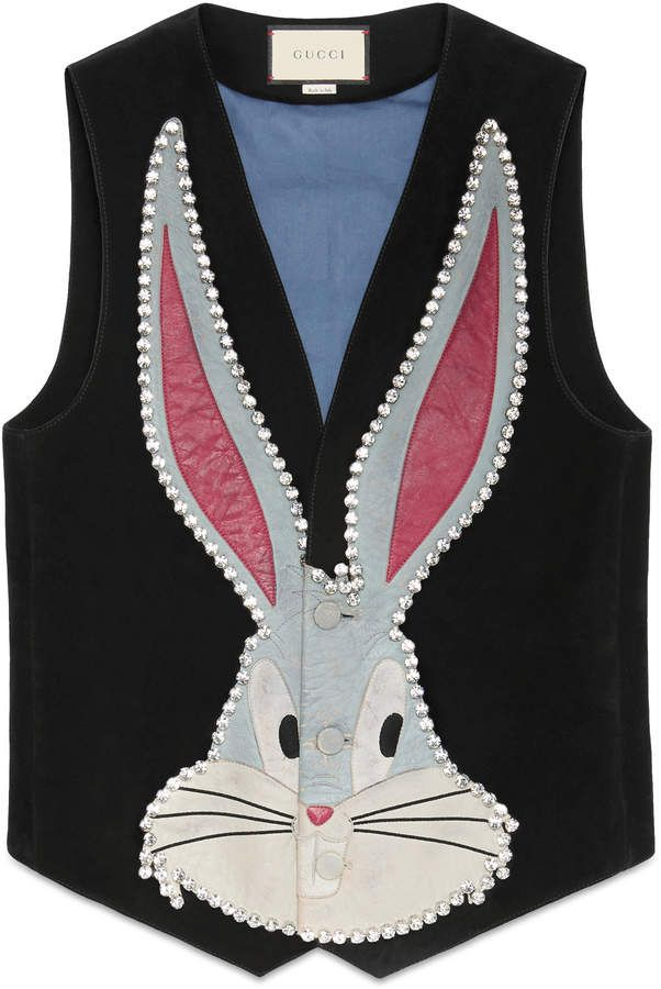 aee0e14cdc9 GUCCI Bugs Bunny suede vest with patches ~