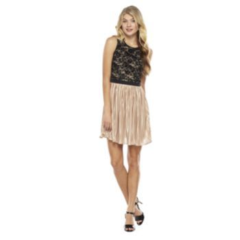 3888008094 Rewind Lace Chiffon Skater Dress - Juniors Kohl s