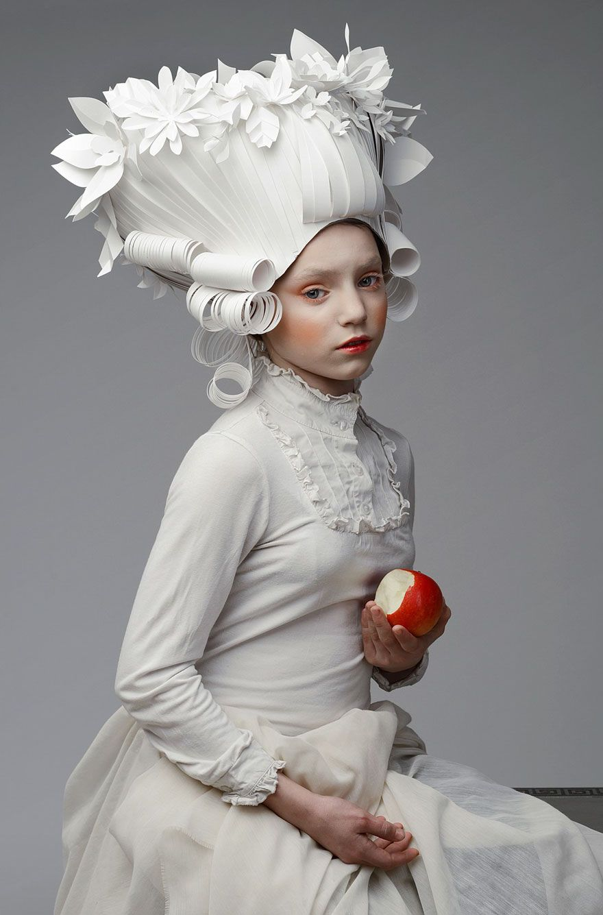 Russian Artist Creates Intricate Baroque Wigs From Paper Russian Artist, Asya Kozina, creates intricate Baroque wigs from paper via BoredPanda