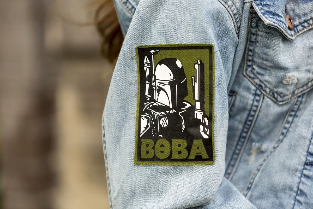 Boba fett jacket patch patches jacket pin and patches