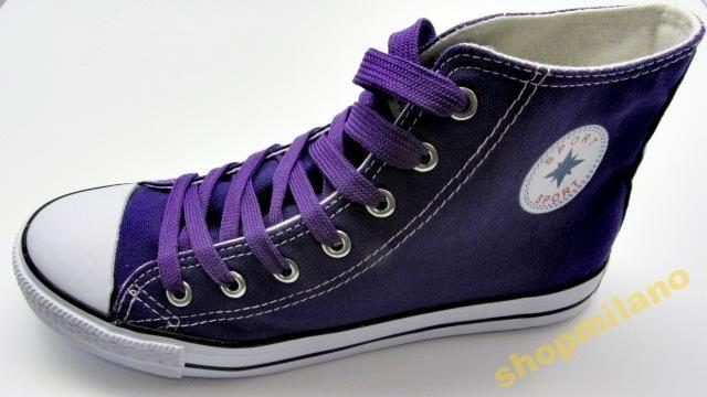 Trampki Damskie Za Kostke 8224 Fiolet Rozm36 41 3433772726 Oficjalne Archiwum Allegro Converse High Top Sneaker High Top Sneakers Converse Chuck Taylor High Top Sneaker