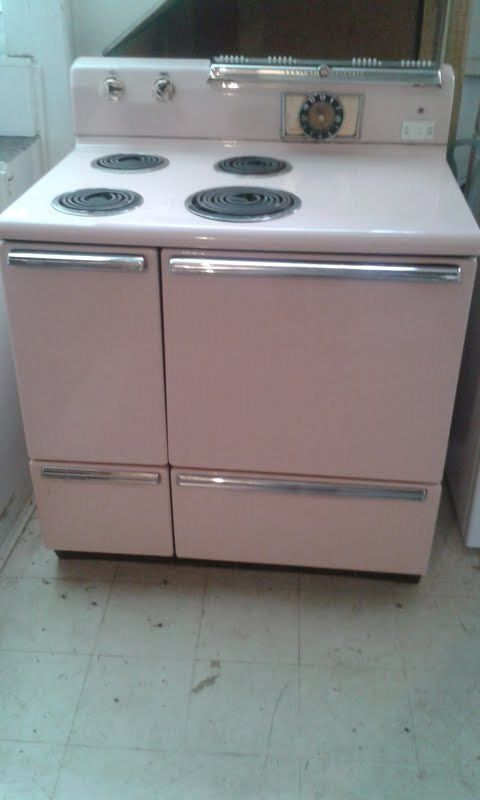 Vintage Electric Stoves ~ Vintage ge electric stove pink fabulous condition