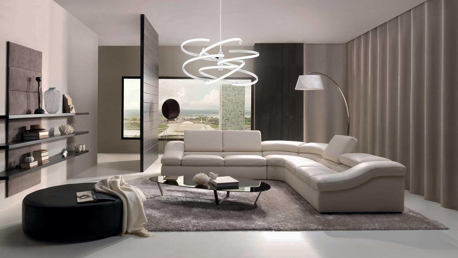 Come scegliere i lampadari per un soggiorno moderno ...