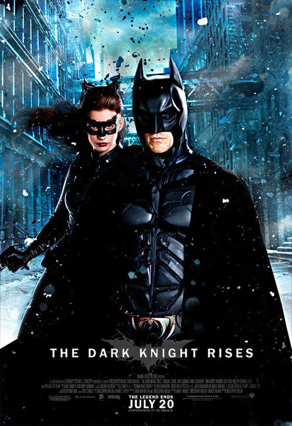 Batman Y Catwoman En Nuevo Cartel De El Caballero Oscuro La