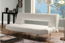 Drake Collection Adjustable Sofa/Futon H4805WHT