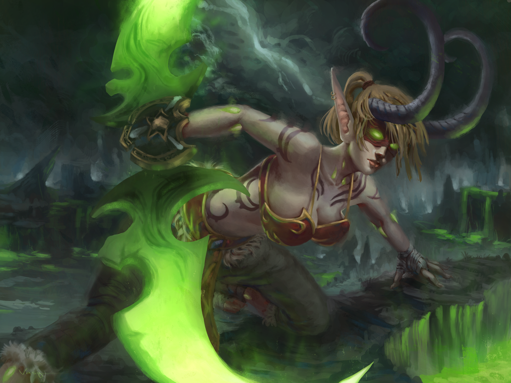 Photoshop cc painting airbrushing and post processing for Demon hunter
