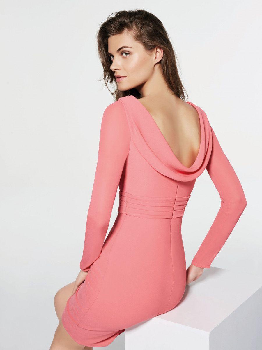 Pronovias Cocktail Dress 2018 Collection Gradilana Short crepe dress ...