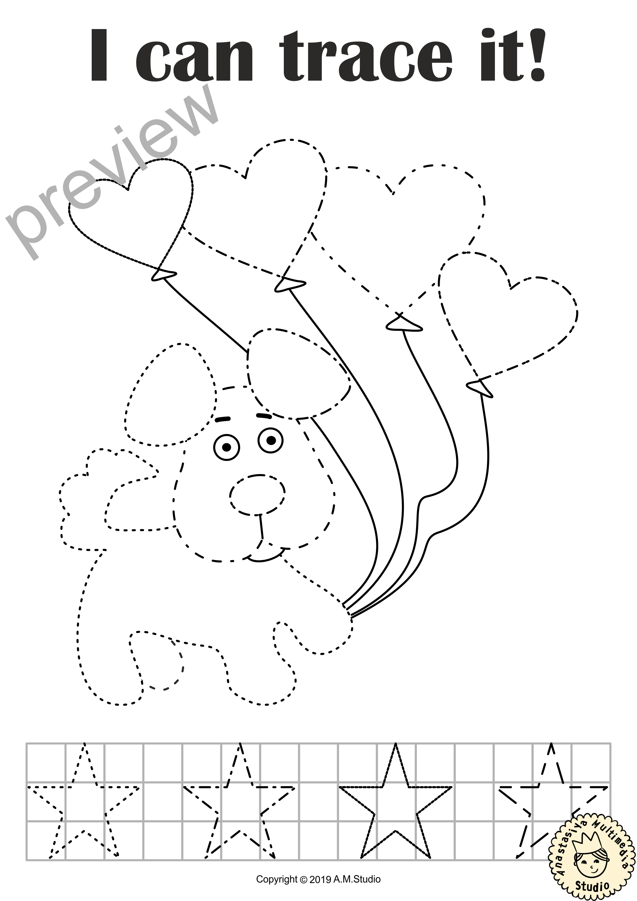 I Can Trace It Valentine S Day Fine Motor Skill Practice