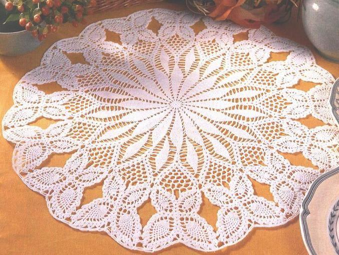 Patron Crochet Tapete Mesa - Patrones Crochet | serwetki | Pinterest ...