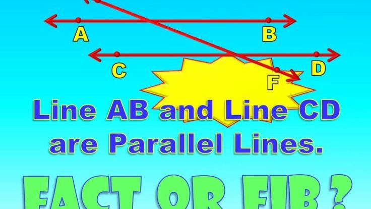 Fact Or Fib Types Of Lines