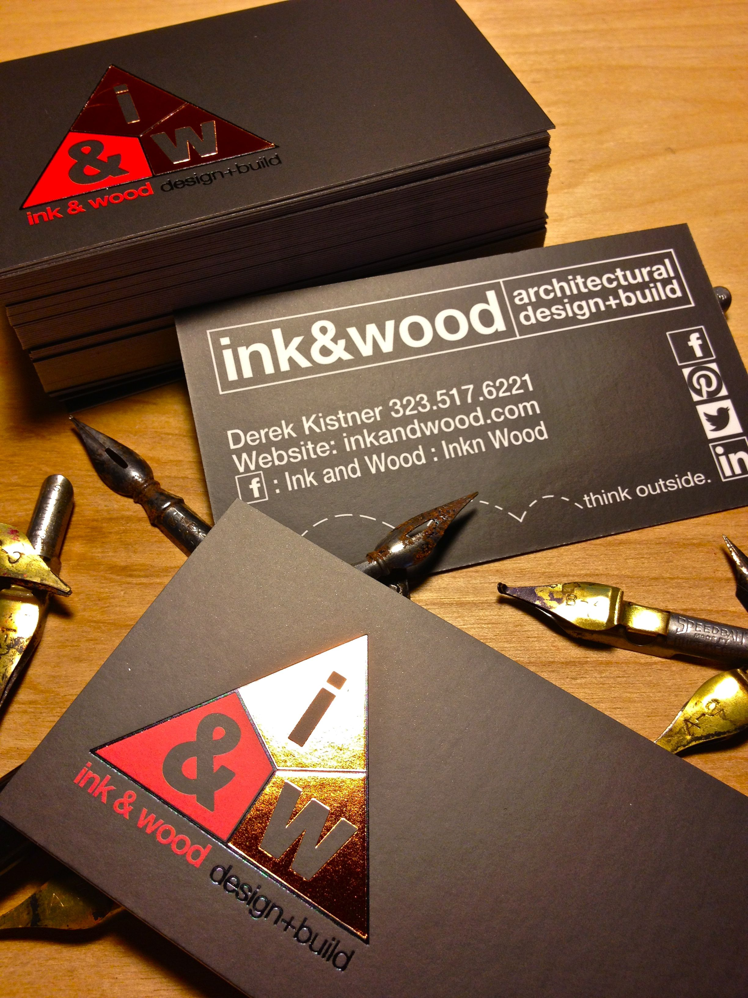 ink wood design build los angeles custom business cards