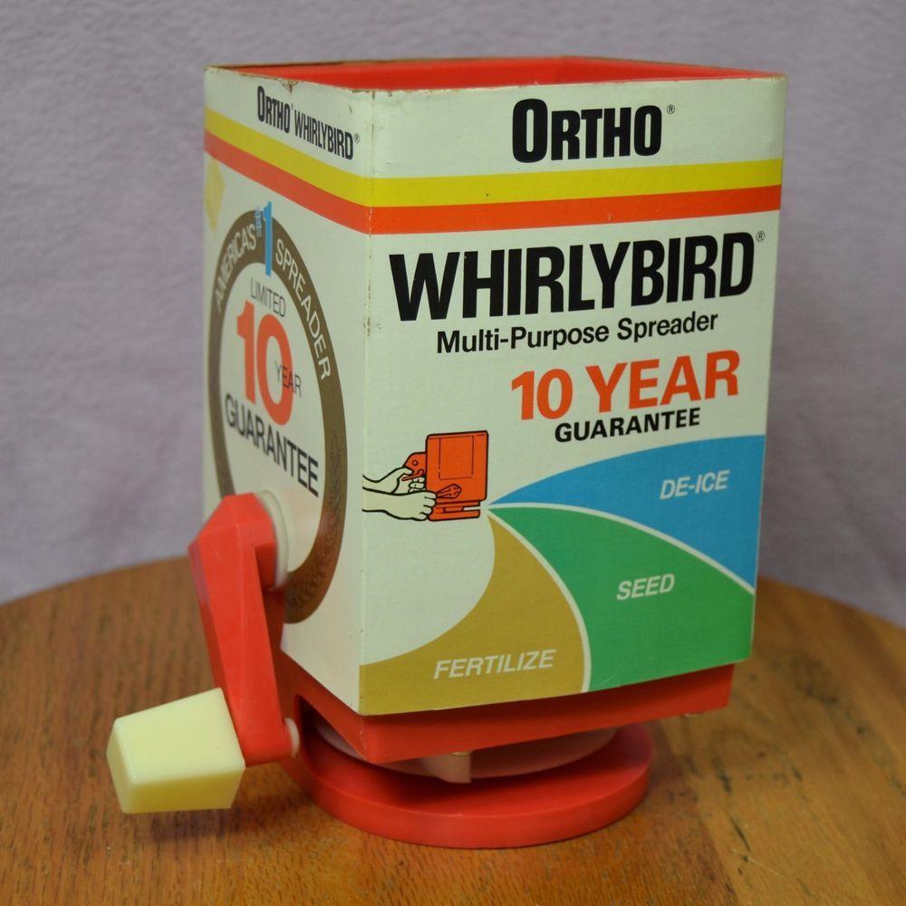 vintage ortho whirlybird multi purpose spreader de ice seed rh pinterest com Old Ortho Broadcast Spreader Settings ortho whirlybird hand spreader settings
