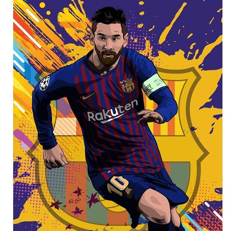 Pin De Alexis Em Barcelona Illustration Jogadores De Futebol