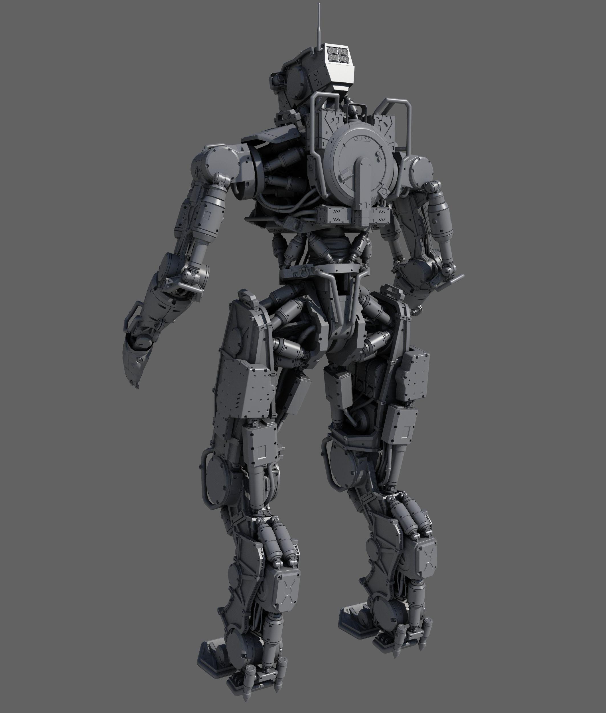 r soldier 3d model max obj fbx 4 | Robots and Prosthetics in
