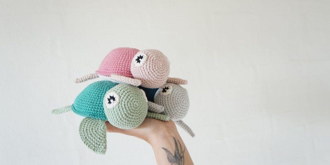 Famoso Modelo De La Tortuga De Crochet Libre Imágenes - Manta de ...
