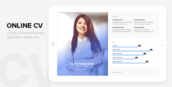 nice on line cv skilled html css resume web site template resume