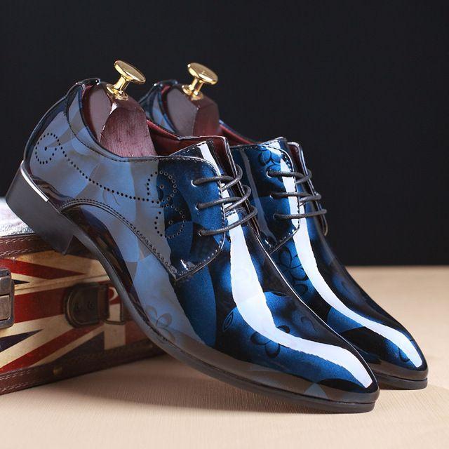d6f5f38b19a GNOME Men Dress Shoes Floral Pattern Men Formal Shoes Leather Luxury  Fashion Groom Wedding Shoes Men Oxford Shoes Dress 37-50