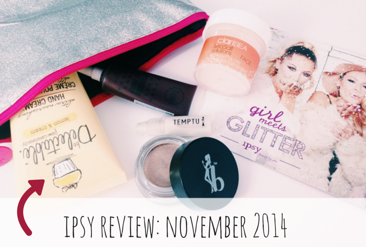 Ipsy Glam Bag Review: November 2014