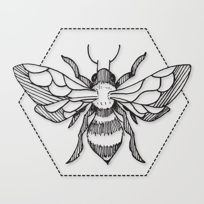Photo of Pen & Ink Bee Tattoo von CloudWalker Designs – society6.com / … – Tattoo